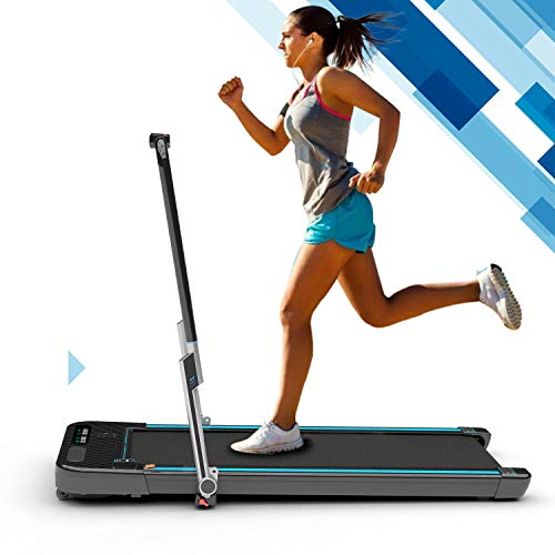 2WD Tapis roulant Leggero Treadmill Elettrico, Macchina da Corsa per Fitness, Attrezzatura da Palestra per Tapis roulant