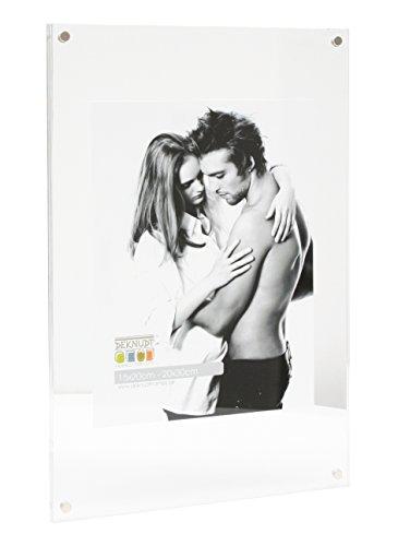Deknudt Frames S58SB1-30.0X40.0 - Cornice portafoto in plexiglass, per foto 30 x 40 cm, 41 x 31 x 2,5 cm, plastica