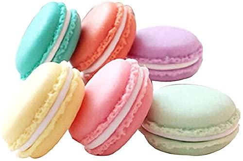 12 unidades de mini macarons, neceser para cosméticos, pendientes, anillos y joyas, portátil, caja de almacenamiento, mini píldoras