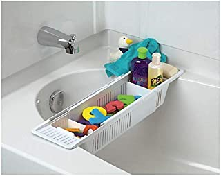 Collection Kids Bath Toy Organizer and Bathtub Storage Basket
