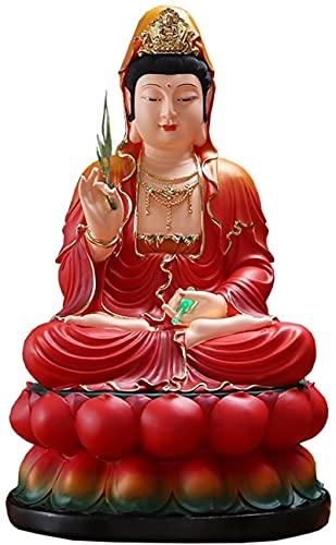 Mxchen Buddha Statue Decorazione della casa Statua Guanyin Resina Best Chinese Feng Shui regalo Decorazione della statua del Buddha