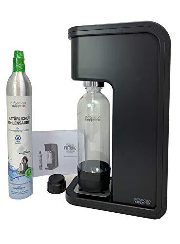 Happy Mix Wassersprudler Future mit OnePush-Funktion, für besonders Starkes Sprudelwasser, inkl. CO2 Zylinder und 1L PET-Flasche