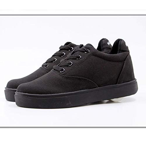 qmj Scarpe con Rotelle Skateboard Sneakers Outdoor Multisport Running Calzature da Ginnastica,Black-41