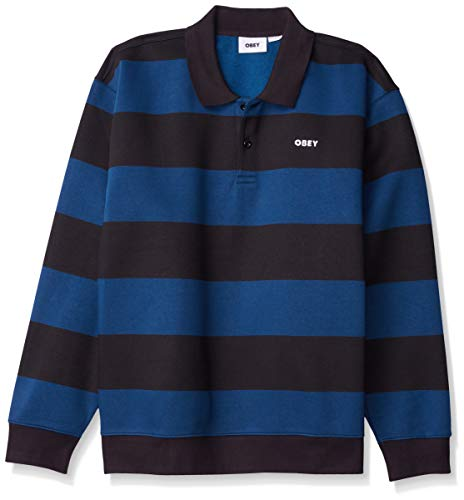 Obey Herren Ashmore Polo-Pullover, Schwarz Multi, X-Large