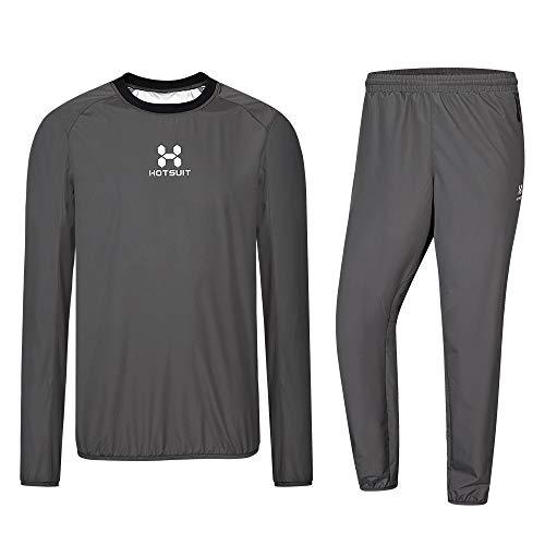 HOTSUIT Sauna Suit Men Weight Loss Sweat Jacket Gym Boxing Workout Grey S