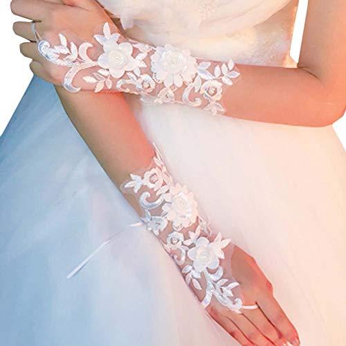 Gants de mariée mariage robe de soirée dentelle longs gants A18