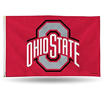 NCAA Ohio State Buckeyes 3-Foot by 5-Foot Single Sided Banner Flag with Grommets