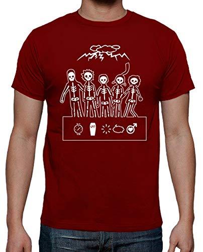 latostadora - Camiseta Misfits para Hombre Rojo M