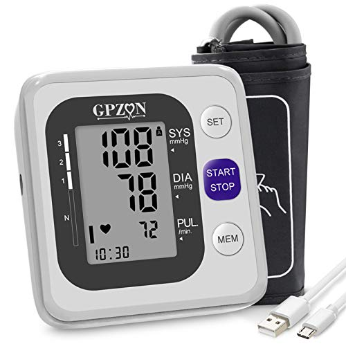 Blood Pressure Monitor Upper Arm Digital BP Monitor with Large Cuff Fully...