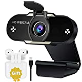 2K Super HD Best Webcam for Live Streaming Gaming Distance Meetings Video Record. USB Web Camera with Extra Gift of Earbuds Zoom/Skype/Facetime/Teams, PC Mac Laptop Desktop