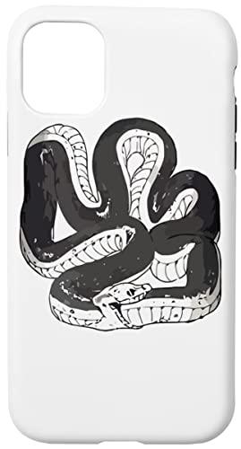 Chloes Serpiente Camisa Caja del Teléfono para iPhone 11 Concha Dura con Capa De Silicona en el Interior Phone Case