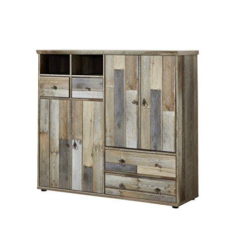 moebel-guenstig24.de Kommode Bonanza Sideboard Kombikommode Wohnzimmer Schlafzimmer Flur Driftwood Nachbildung