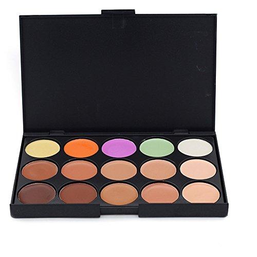 JasCherry Palette correcteur crème de camouflage 15 couleurs - cosmétique Camouflage Crème de Professionnelle Set Kit #3
