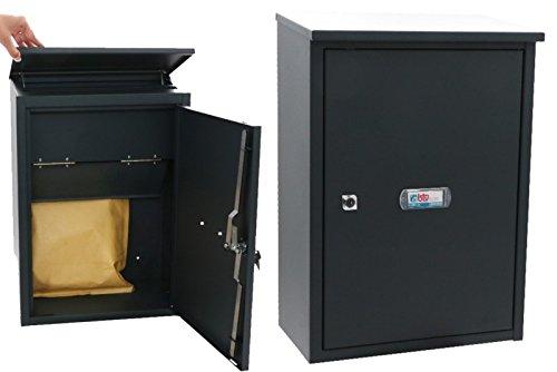 BTV Packet Box–Briefkasten für den Außenbereich-24Stahl graphit