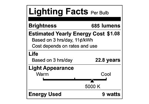 Ecosmart Daylight LED BR30 Dimmable Flood Bulb, 65W Replacement, 9 Watt, 685 Lumens - 5000K - Indoor/Outdoor Rated (6-Pack)
