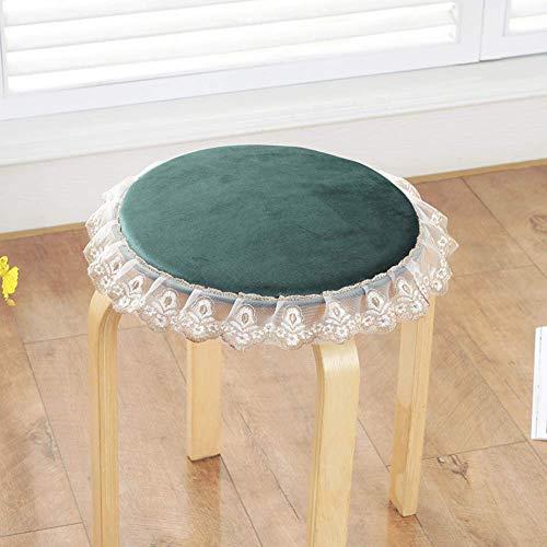 Cojines de silla redonda de encaje, almohadillas de asiento de color sólido Decoración para el hogar Cocina Silla de cocina Cojín de cojines No resbalón Tatami Alimento interior Asiento al aire libre