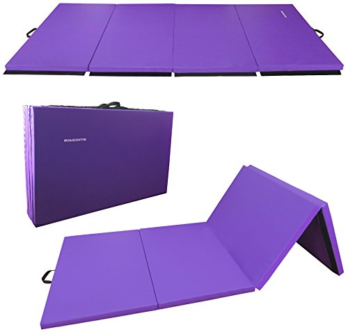 "BalanceFrom BFGR-01PP All-Purpose Extra Thick High Density Anti-Tear Gymnastics Folding Exercise Aerobics Mats, 4' x 10' x 2"""