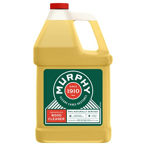 Murphy 70481465315 OIL SOAP Wood Cleaner, Original, Concentrated Formula, Floor Cleaner, Multi-Use Wood Cleaner, Finished Surface Cleaner, 128 Fluid Ounce (US05480A)