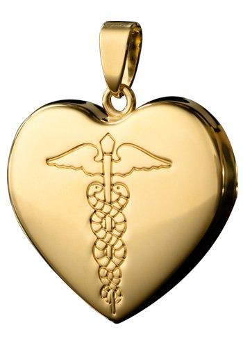 Infomedic 18ct amarillo lámpara de techo - en forma de corazón