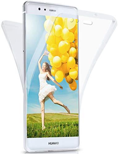 MoEx Funda Protectora 360º de Silicona Compatible con Huawei P9 | Transparente, Transparent