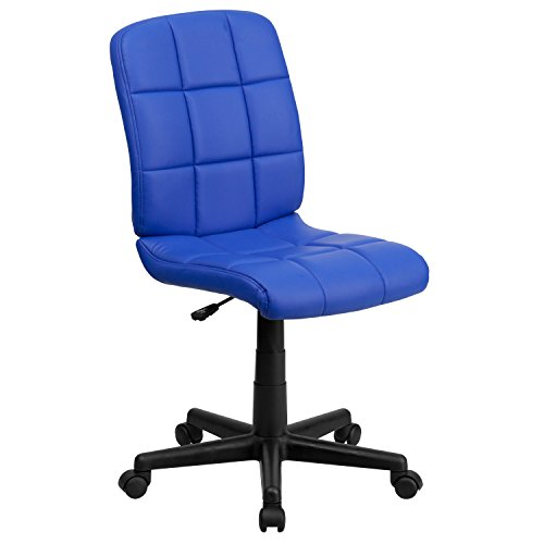 Flash Furniture Mid-Back Blue Quilted Vinyl Swivel Task Chair