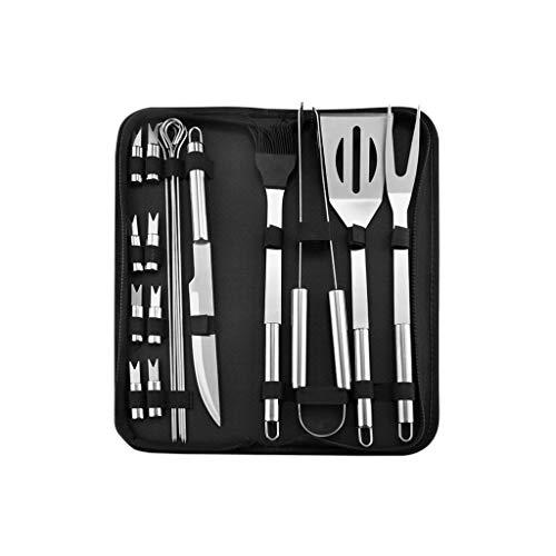 Chenguojian Grilling Utensil Set mit Carry-Taschen-Profi Grillbesteck Set & Basic Grill Werkzeugen for Hinterhof Restaurant Outdoor-Küche -Great for Outdoor-Grill, Teppanyaki und Camping (Size : 18)