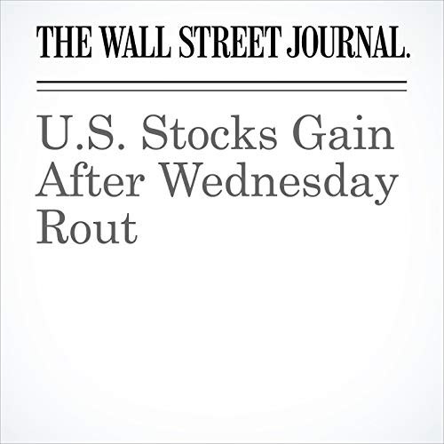 U.S. Stocks Gain After Wednesday Rout copertina