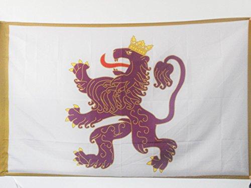 AZ FLAG Bandera del Reino DE LEÓN 910-1230 150x90cm para Palo - Bandera DE Leon 90 x 150 cm
