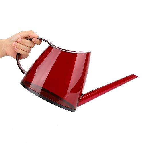 Regadera de rociador de agua pequeña de 1.2L, herramienta de maceta de riego de flores de color caramelo de boca larga descubierta para el hogar del jardín(rojo)