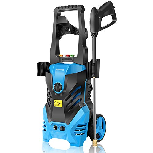 Pressure Washer,3000PSI Electric Pressure Washer, 1.8GPM Electric Power Washer High Pressure Washer with Spray Gun, Brush, and 4 Quick-Connect Spray Tip, Blue