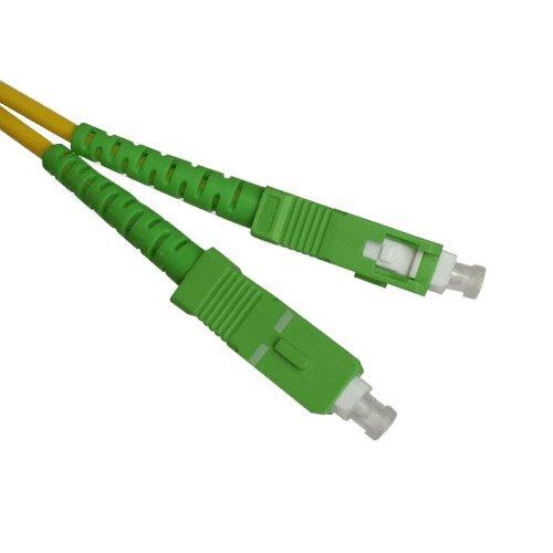 Cable Fibra optica SC-APC monomodo simplex 9-125 Amarillo (50 cm)