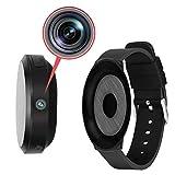 M@Q 小型カメラ 腕時計型 スパイカメラ 隠しカメラ 時計 1080P 高画質 日本語取説 長時間 マイクロSDカード録画 マグネット内蔵 ウォッチ ホルダー バンド 付き 監視 防犯カメラ アクションカメラ ウエアラブルカメラ MQ023