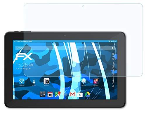 atFolix Schutzfolie kompatibel mit Trekstor Surftab Xintron i 10.1 3G Folie, ultraklare FX Bildschirmschutzfolie (2X)