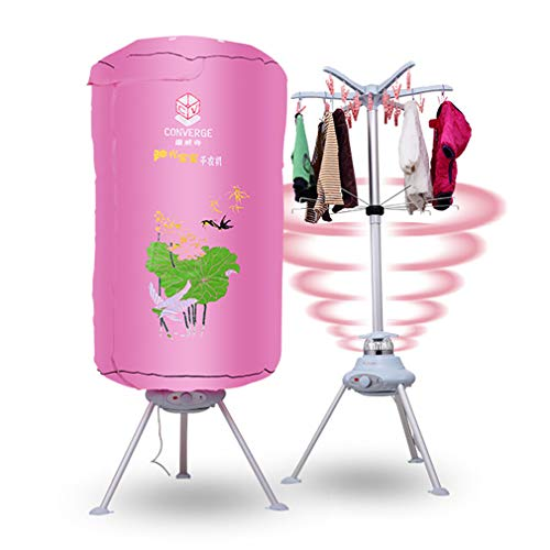 JCX Elektrische wasdroger, 1000 W, opvouwbaar, voor binnenruimtes, heteluchtdroger, sneldrogend, met verwarming voor thuis en slaapkamer.