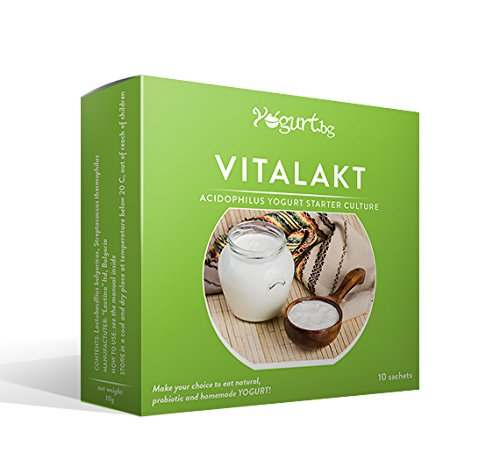 vitalakt yogur Acidophilus Yogurt Starter cultura–para la creación en casa–10litros Acidophilus MABAMAHO Probiotic lácteo