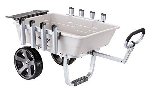 Gorilla Carts GCO-5FSH Poly Bed Fish & Marine Cart 200 lb Capacity, Gray