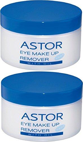 Astor Eye Make up Remover Pads with Oil, Augen-Make-up Entferner mit Öl, Für super sanftes...