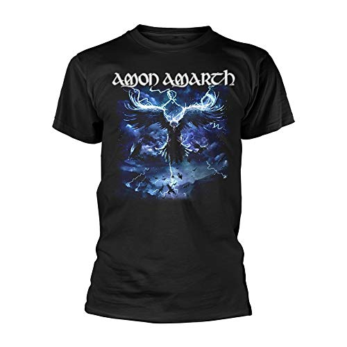 Amon Amarth Raven's Flight (Black) offiziell Männer T-Shirt Herren (XX-Large)