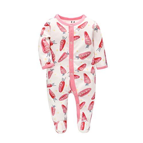 Amcool-baby Strampler Jungen Mädchen Schlafanzug Baumwolle Cartoon Overalls Babykleidung Langarm Spielanzug Baby-Nachtwäsche9(0-12 Monate)