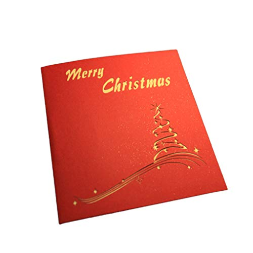 Fasclot 3D Up Card Christmas Tree Greeting Baby Gift Holiday Happy New Hot Cards Home & Garden Home Decor