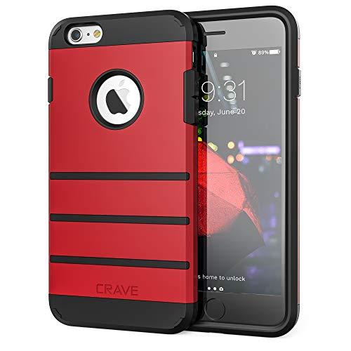 Crave Strong Guard Schutzhülle für iPhone 6 / 6S Plus (5,5 Zoll), Rot