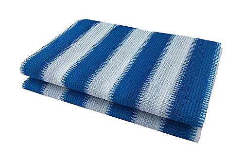 LLCY Red de tela para sombra, diseño de rayas, color azul, blanco, 90% antiUV, para exteriores, terraza, jardín, pérgola, decoración, red de sombra (color: azul blanco, tamaño: 0,75 x 4 m)