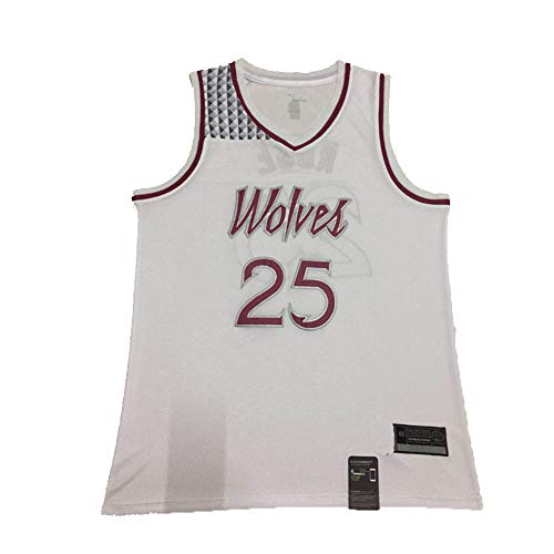Rose Herren Basketball Jersey Wolves #25 Ersey Sportswear Gedenk-Edition, Unisex Ärmelloses Weste Shirt Sport Top (S-XXL) Gr. S, blau
