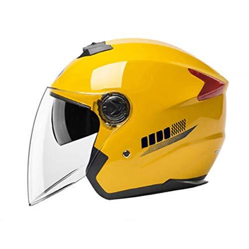 Casco de Motocicleta Casco Moto Jet ECE Homologado - Casco Moto Abierto Scooter para Mujer Hombre Adultos con Doble Visera-Negro Mate (Color : 3, Size : L (56cm))