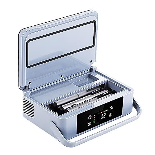 Enfriador de insulina Mini refrigerador de coche de 2 ~ 18 ℃ Caja refrigerada de insulina, viaje, hogar, congelador de temperatura Refrigerador de medicamentos 2-25 Refrige Refrigerador portátil par