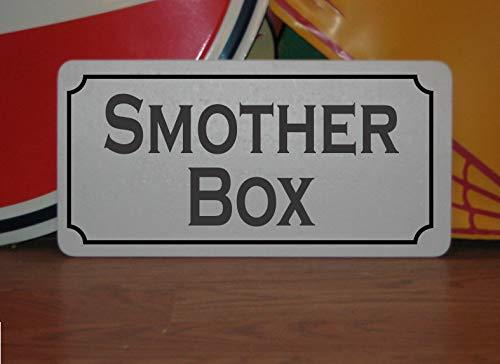 43LenaJon Metallschild mit Aufschrift Smother Box, personalisierbar
