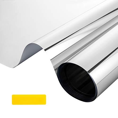 LEMESO - Película adhesiva para ventana, efecto de espejo, antirrayos UV, para privacidad, anticalor, para decoración y protección de la casa, oficina, 40 x 200 cm
