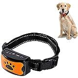 Antilell Collar(USB充電式)調整不可能な難しい吠え防止教育襟犬の振動、音、そして小さい中犬のためのショックなし
