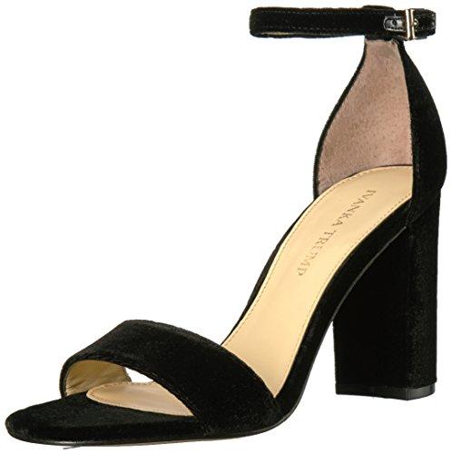 Ivanka Trump Women's Klover3 Heeled Sandal, Black Fabric, 8 Medium US