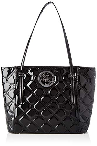 Guess Damen Open Road Tote, Schwarz (Black), 12x27x40 centimeters